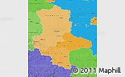 Political Shades Map of Sachsen-Anhalt