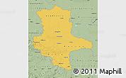 Savanna Style Map of Sachsen-Anhalt