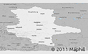 Gray Panoramic Map of Sachsen-Anhalt