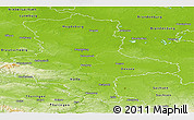 Physical Panoramic Map of Sachsen-Anhalt