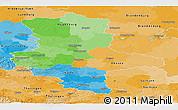 Political Panoramic Map of Sachsen-Anhalt