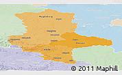 Political Shades Panoramic Map of Sachsen-Anhalt, lighten