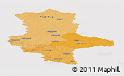 Political Shades Panoramic Map of Sachsen-Anhalt, single color outside