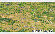 Satellite Panoramic Map of Sachsen-Anhalt