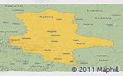 Savanna Style Panoramic Map of Sachsen-Anhalt