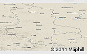 Shaded Relief Panoramic Map of Sachsen-Anhalt