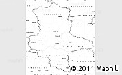 Blank Simple Map of Sachsen-Anhalt
