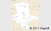 Classic Style Simple Map of Sachsen-Anhalt