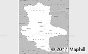 Gray Simple Map of Sachsen-Anhalt