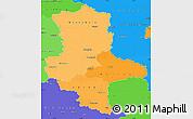 Political Shades Simple Map of Sachsen-Anhalt