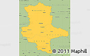Savanna Style Simple Map of Sachsen-Anhalt