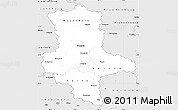 Silver Style Simple Map of Sachsen-Anhalt