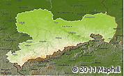 Physical 3D Map of Sachsen, darken
