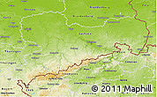 Physical 3D Map of Sachsen