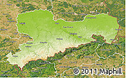Physical 3D Map of Sachsen, satellite outside