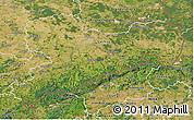Satellite 3D Map of Sachsen