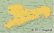 Savanna Style 3D Map of Sachsen
