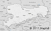 Silver Style 3D Map of Sachsen