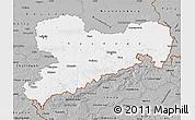 Gray Map of Sachsen