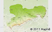 Physical Map of Sachsen, lighten