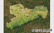 Satellite Map of Sachsen, darken
