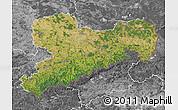 Satellite Map of Sachsen, desaturated