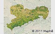 Satellite Map of Sachsen, lighten