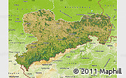 Satellite Map of Sachsen, physical outside