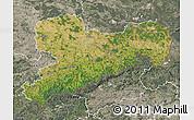 Satellite Map of Sachsen, semi-desaturated