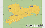 Savanna Style Map of Sachsen, single color outside