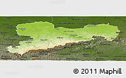 Physical Panoramic Map of Sachsen, darken