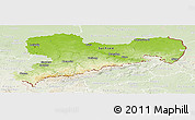 Physical Panoramic Map of Sachsen, lighten