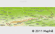 Physical Panoramic Map of Sachsen