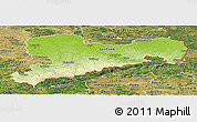 Physical Panoramic Map of Sachsen, satellite outside