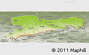 Physical Panoramic Map of Sachsen, semi-desaturated