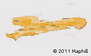 Political Panoramic Map of Sachsen, cropped outside