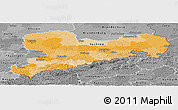 Political Panoramic Map of Sachsen, desaturated