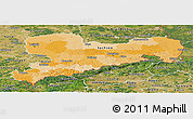 Political Panoramic Map of Sachsen, satellite outside