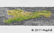 Satellite Panoramic Map of Sachsen, desaturated