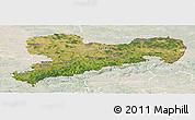 Satellite Panoramic Map of Sachsen, lighten