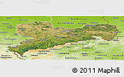 Satellite Panoramic Map of Sachsen, physical outside