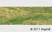 Satellite Panoramic Map of Sachsen