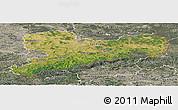 Satellite Panoramic Map of Sachsen, semi-desaturated