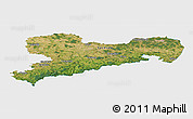 Satellite Panoramic Map of Sachsen, single color outside