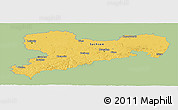 Savanna Style Panoramic Map of Sachsen, single color outside