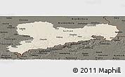 Shaded Relief Panoramic Map of Sachsen, darken