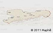Shaded Relief Panoramic Map of Sachsen, lighten