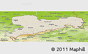Shaded Relief Panoramic Map of Sachsen, physical outside