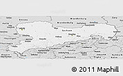 Silver Style Panoramic Map of Sachsen