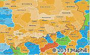 Political Shades 3D Map of Sachsen